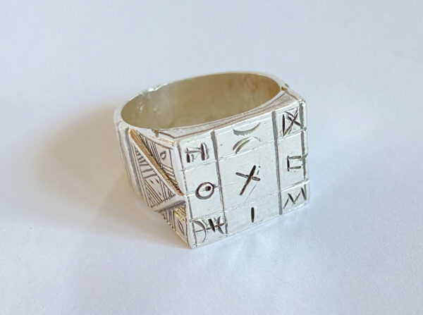 tuareg ring with symbols