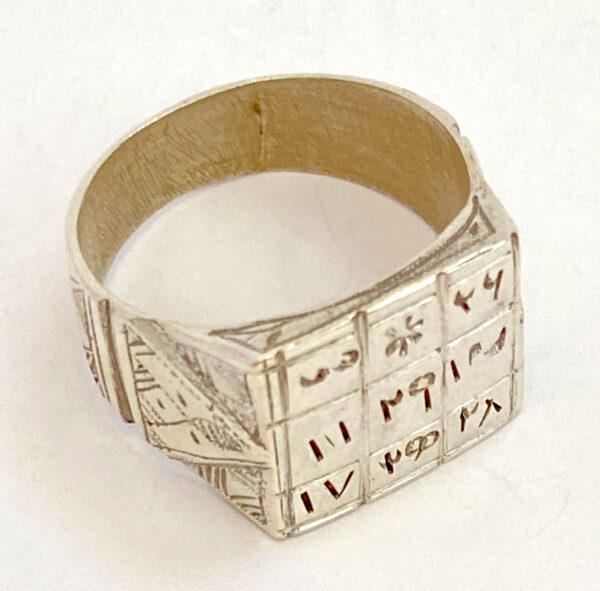 tuareg ring with symbols